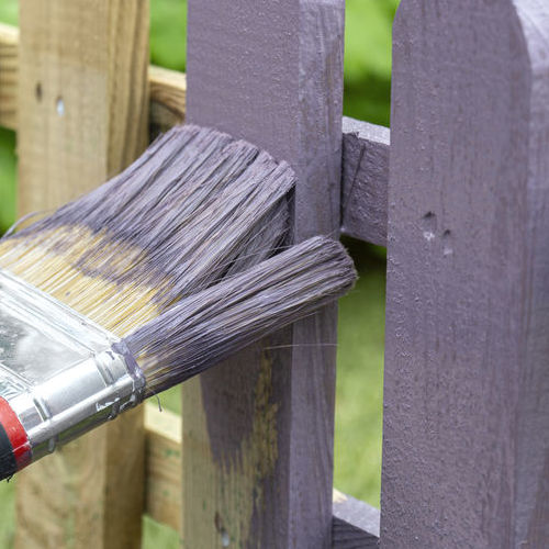 Wood Fences Gets Coat of Purple Stain.