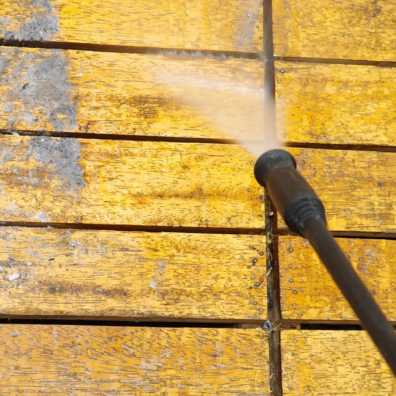pressure washing surface