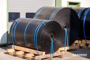 Rolls of TPO Roofing Material