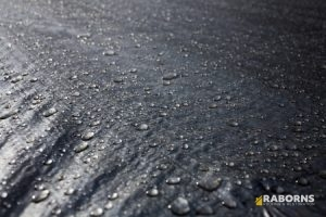 Water Droplets on EPDM Roofing Materials