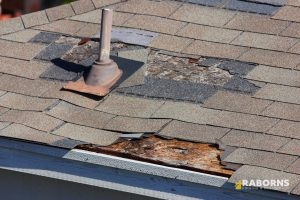 Wind Damaged Roof
