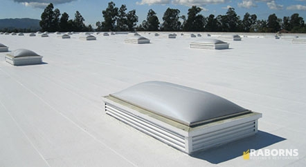 A White, Reflective PVC Roof